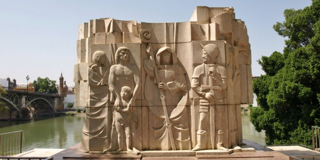 Monumento Fray Bartolomé de las Casas en sevilla-abogados en sevilla dominguez lobato