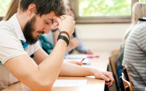 student have difficult test