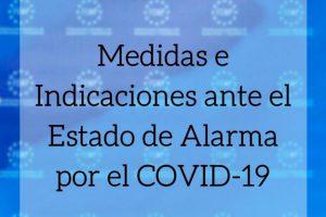 estado de alarma y coronavirus